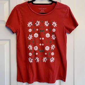 Lucky Brand Womens Framed Floral T-Shirt XS